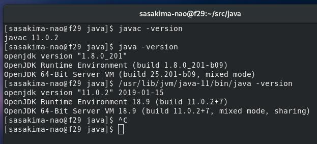 Fedora 29 java and GraalVM java | PaePoi